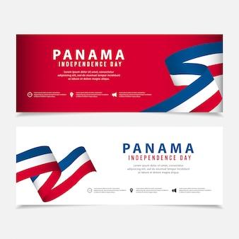 Dia da independência do modelo do panamá.