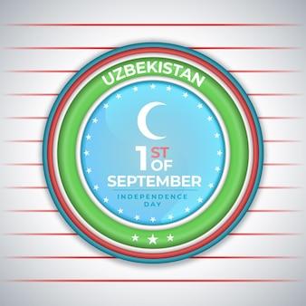 Dia da independência do uzbequistão em um círculo