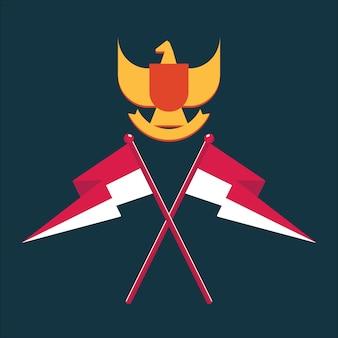 Dia da independência dos ativos da indonésia