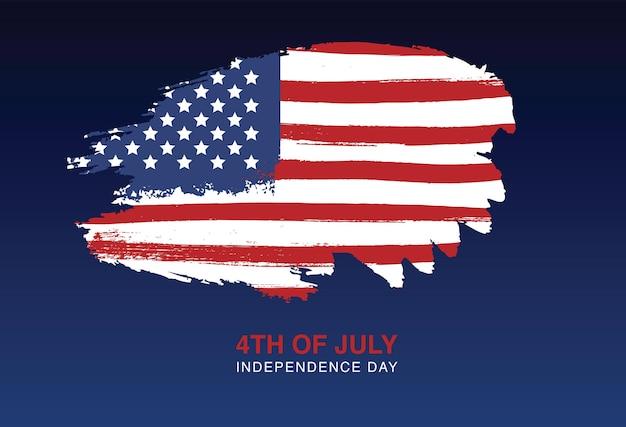 Dia da independência dos estados unidos, 4 de julho bandeira do grunge dos eua