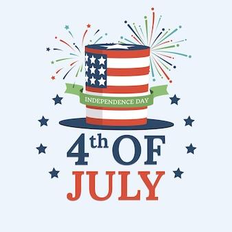 Dia da independência dos estados unidos da américa comemorando o design do pôster