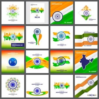 Dia da independência indiana criativo
