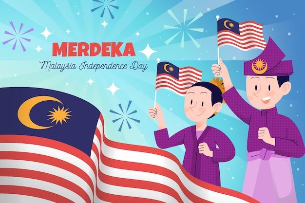 Dia da independência merdeka na malásia