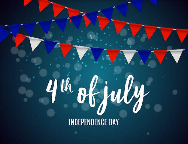 Dia da independência nos eua pode ser usado como banner ou cartaz