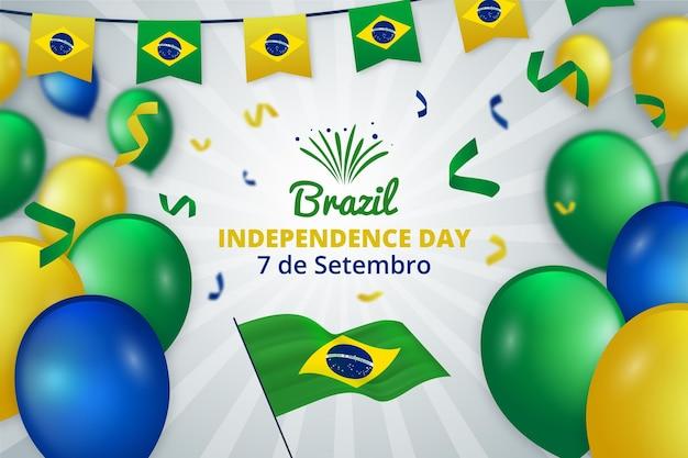 Dia da independência realista do conceito de brasil