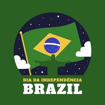 Dia da independência vintage do conceito do brasil