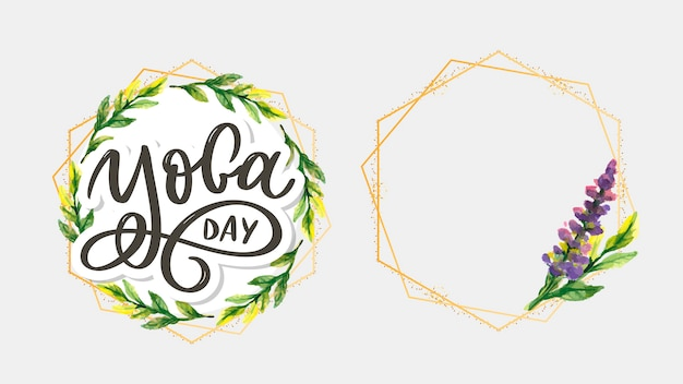 Dia da ioga de letras