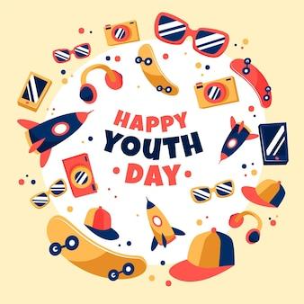 Dia da juventude desenhado à mão