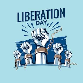 Dia da libertação vector illustration premium