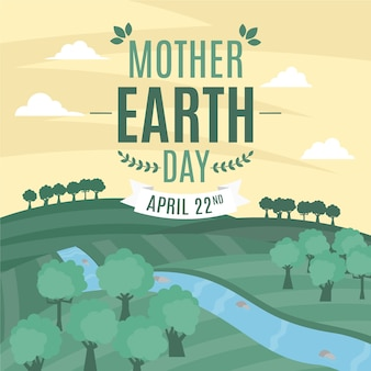 Dia da mãe terra design plano
