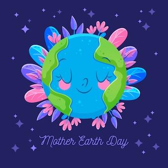 Dia da mãe terra ilustração plana