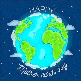 Dia da mãe terra mão desenhada