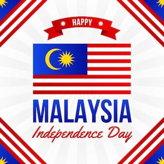 Dia da malásia com bandeira