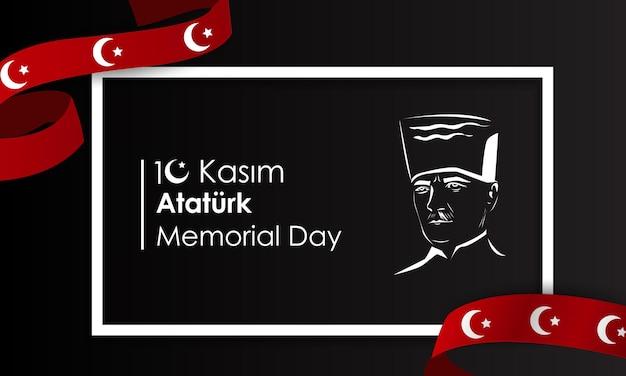 Dia da memória da república turca mustafa kemal ataturktranslation novembe translation novembe