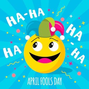 Dia da mentira com emoji