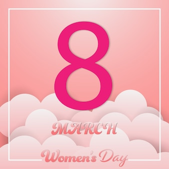 Dia da mulher 8 de março de fundo.