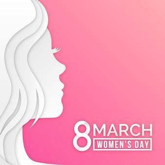 Dia da mulher em estilo de jornal