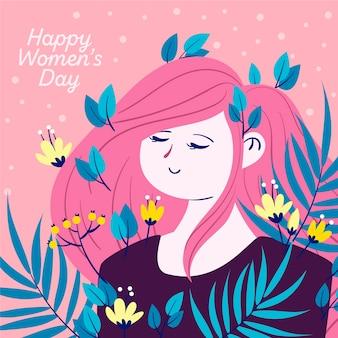 Dia da mulher em estilo floral