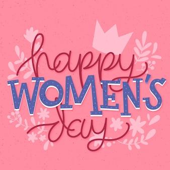 Dia da mulher em letras