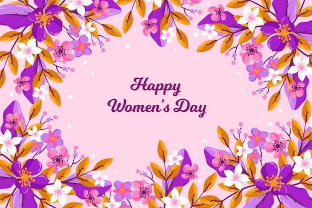 Dia da mulher feliz floral colorido