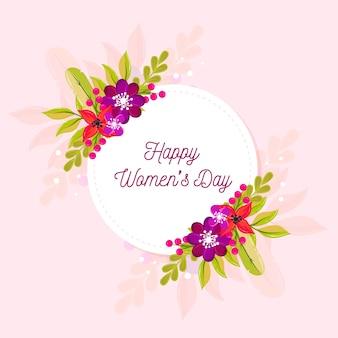 Dia da mulher feliz multicolorida com flores
