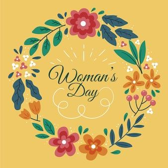 Dia da mulher floral colorido