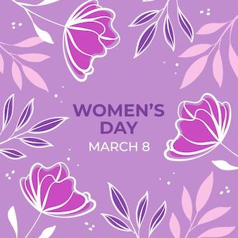 Dia da mulher floral com flores