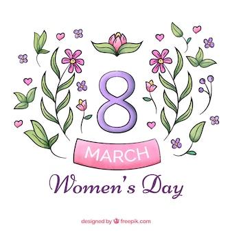 Dia da mulher fundo da aguarela