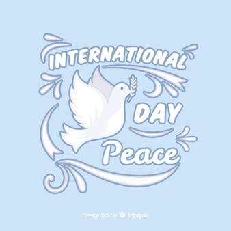 Dia da paz design plano com pomba