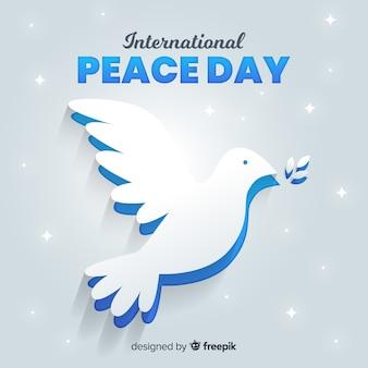 Dia da paz internacional com pomba