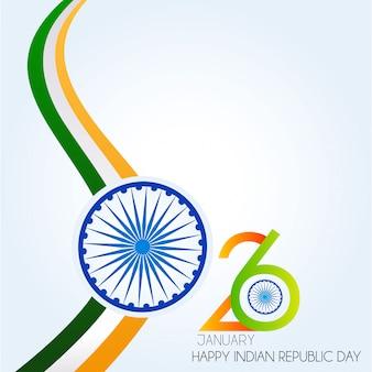 Dia da república da índia. 26 de janeiro de fundo indiano