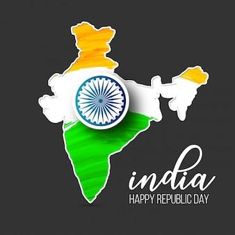 Dia da república da índia 26 de janeiro de fundo