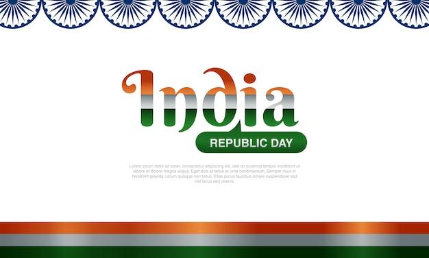 Dia da república da índia com a bandeira nacional da índia
