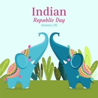 Dia da república desenhada à mão