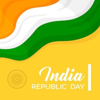 Dia da república indiana colorido