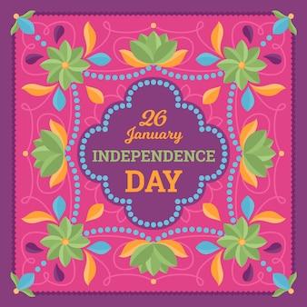 Dia da república indiana de design plano