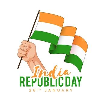 Dia da república indiana desenhada à mão
