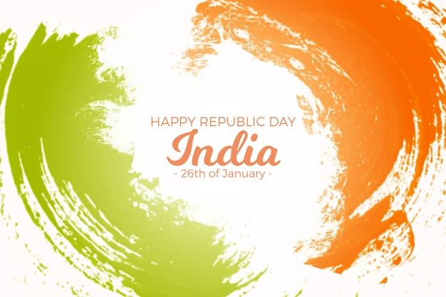 Dia da república indiana em aquarela