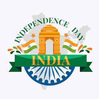 Dia da república indiana em design plano