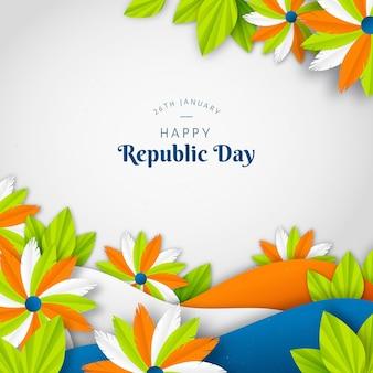 Dia da república indiana em estilo jornal