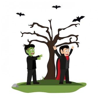 Dia das bruxas e crianças