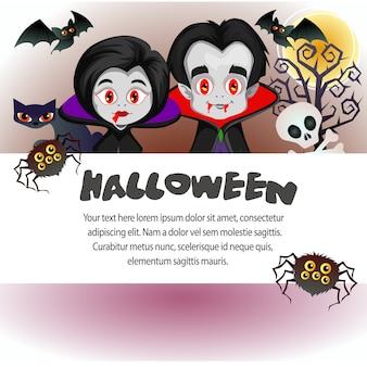 Dia das bruxas modelo vampiro drácula casal