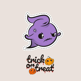 Dia das bruxas ponto fantasma fantasma zumbi boneca vodu fantasma malvado monstro costurando truque ou travessura de abóboras
