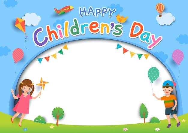 Dia das crianças ao ar livre