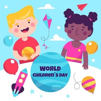 Dia das crianças estilo desenhado à mão