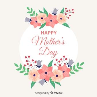 Dia das mães circulou fundo floral