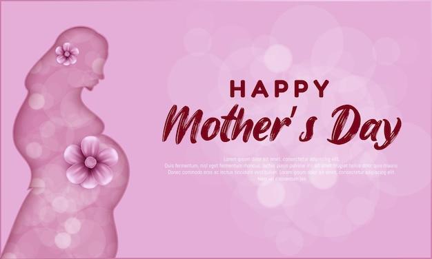 Dia das mães com flor rosa.