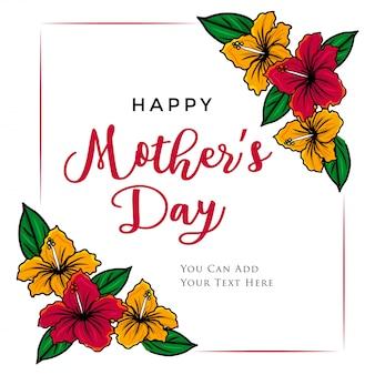 Dia das mães com floral tropical