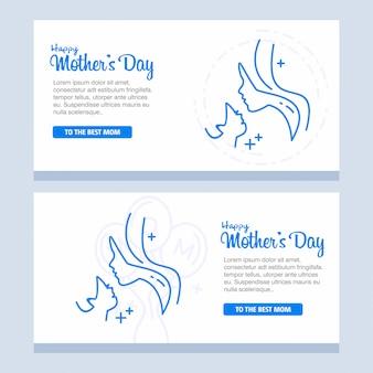 Dia das mães com flores de flor