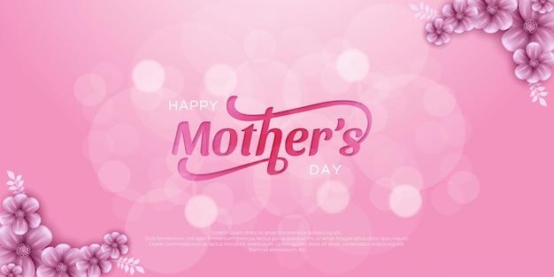 Dia das mães com flores.